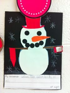 "Activity to do after reading ""Snowmen at Night"""