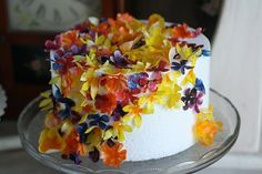 50 wafer paper flowers for cake decorating and by ACakeToRemember