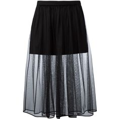 Givenchy pleated tulle skirt (€800) ❤ liked on Polyvore featuring skirts, bottoms, saias, black, mid calf skirts, midi skirt, pleated midi skirts, short skirts and short pleated skirt