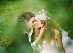 blog post: lesbian wedding, forest, lakes, canoe