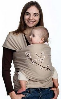 DIY Moby Wrap. Easy directions with a link to how to wear it.