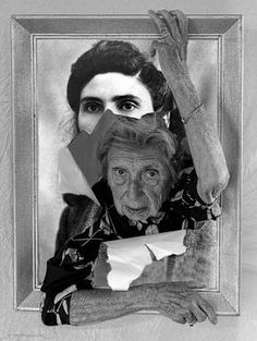 Photo of his 93 year old mother Elia by Tony Luciani. Photomontage, Art Visage, Old Mother, Identity Art, A Level Art, Gcse Art, Monochrom, Dementia, Art Sketchbook