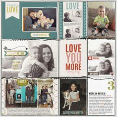 Sarah has some gorgeous pocket-style scrapbooking layout inspiration! Check it out!