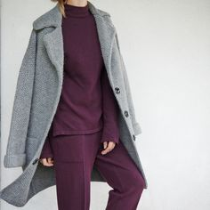 #wool #cashmere #knit #knitting #fashion #FW17 #trend #style #streetstyle #coat #woolcoat #trousers #jacket