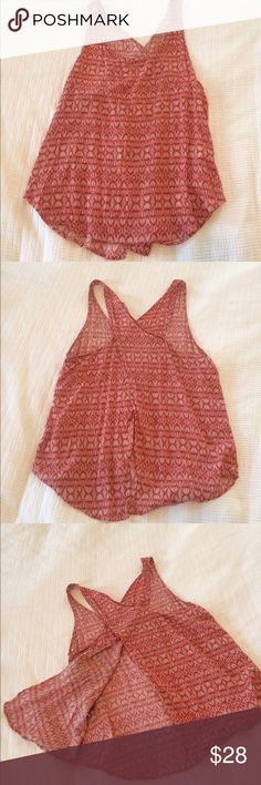 Lucky Brand Red and white tank top with open back Lucky Brand Tops Tank Tops