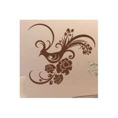 """Style and Apply Peacock Wall Decal Color: Dark Gray, Size: 31"""" H x 28"""" W"""