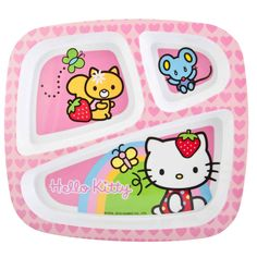 Hello Kitty Divided Plates for Kids I want this for myself! (^.^)