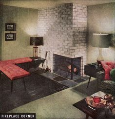 Published in American Home as part of an article on building a new house. The architect was James Scovil and the house was built on Northern Boulevard, Roslyn, Long Island. Furnished by Bloomingdale's, most of the furniture was part of the Planner collection by Paul McCobb.