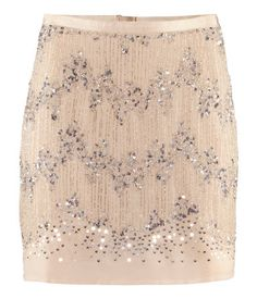 beaded and sequined skirt