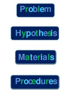 Science Fair Project Display Board Labels