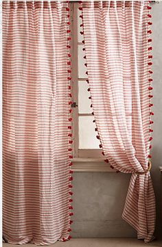 Pom Tassel Curtains #anthrofave #anthropologie #anthropologie.com