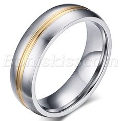 Mens Women Silver Gold Tone Stainless Steel Wedding Anniversary Ring Band #5-#13 #Unbranded #Band
