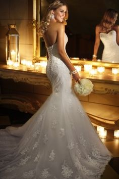 45 Stylish Trumpet Wedding Dresses Stella York -- 5708 – The Knot