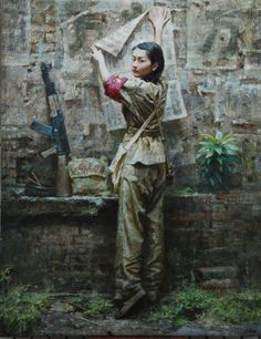 Team Leader: painting by Da Zhong Zhang