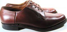 Saxone Men Leather Oxford Shoes Size 9.5 Brown.  KAK 13 #Saxone #Oxfords