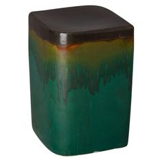 Tall Aero Garden Stool/Table with a Green Clove Glaze - Seven Colonial Ceramic Stool, Ceramic Garden Stools, Blue Velvet Dining Chairs, Upholstered Dining Chairs, Recycled Plastic Adirondack Chairs, Navy Blue Living Room, Industrial Dining Chairs, Reception Seating, Patio Accessories