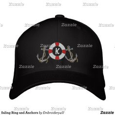 Saling Ring and Anchors Embroidered Baseball Cap e5dc2768e48