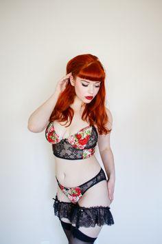 Sierra McKenzie wearing the layla lingerie set by bettiefatal. photo by henryvance.