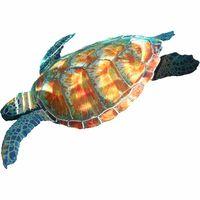 Swimming Sea Turtle Metal Wall Hanging