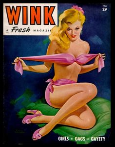 Mature Wink Magazine Sexy Bikini Bather Pin Up by Crafterssupplies, $5.00