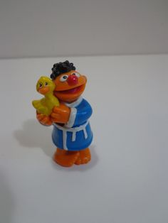 d154695f247db Vintage 90s Sesame Street Tyco Ernie w Rubber Ducky Toy PVC Novelty Cake  Topper Decoration