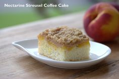 Nectarine Streusel Coffee Cake by Food Librarian, via Flickr