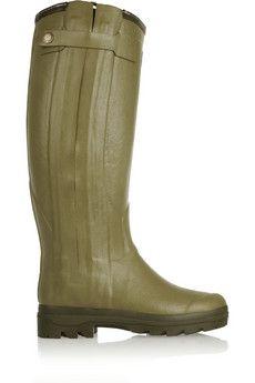 Le Chameau Chasseur shearling-lined rubber rain boots | NET-A-PORTER