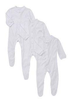 Tesco direct: F&F 3 Pack of Plain Sleepsuits