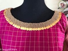 Latest Jeweled Blouse designs for 2019 Kasu coin Embellished Blouse Design Netted Blouse Designs, Dress Neck Designs, Fancy Blouse Designs, Saree Blouse Neck Designs, Bridal Blouse Designs, Hand Work Blouse Design, Stylish Blouse Design, Sari Design, Designer Blouse Patterns