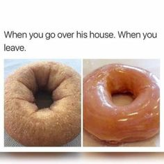 When You Leave, Funny Pictures, Funny Pics, Adult Humor, Doughnut, Desserts, Food, Fanny Pics, Fanny Pics