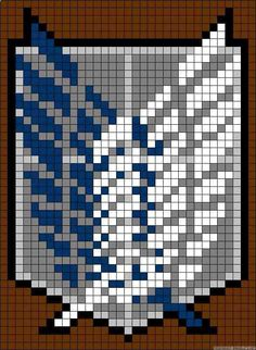 Attack on titan survey corps embroidery cross stitch pattern