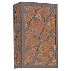 2nd Ave Design Branch Leaf 2-Light Outdoor Flush Mount Finish: Pompeii Gold Premium, Shade Type: Tea Stained