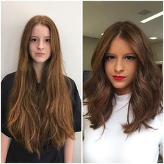 Hair Transformation Before & After Photos - Gallery Mind Blowing Hair Transformation Before & After Photos Medium Long Hair, Medium Hair Cuts, Long Hair Cuts, Long Curly Hair, Medium Hair Styles, Curly Hair Styles, Medium Hair With Layers, Long Hair Trim, Long Bob Hairstyles For Thick Hair