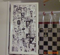 (✿◠‿◠) Took Betty Boop Desk Calender pics decoupaged onto Cabinet. Then Polyurathaned.