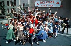 """""""GREASE"""" = Movie (1978): Welcome to Rydel High  _____________________________ Reposted by Dr. Veronica Lee, DNP (Depew/Buffalo, NY, US)"""