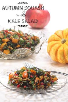 Autumn Squash & Kale Salad. The ULTIMATE Thanksgiving salad (and it's good for you too!)