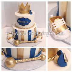Little prince baby shower cake - B. - Baby Tips - Baby Shower Cakes For Boys, Baby Boy Cakes, Boy Baby Shower Themes, Baby Shower Gender Reveal, Baby Shower Parties, Baby Boy Shower, Baby Shower Decorations, Prince Cake, Baby Prince