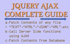 jQuery AJAX Complete Guide for Beginners and Experts – Examples & Codes Coding, Learning, Studying, Teaching, Programming, Onderwijs