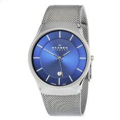 Skagen Mens 956XLTTN Quartz Titanium Blue Dial Watch Skagen,http://www.amazon.com/dp/B0069DE2WY/ref=cm_sw_r_pi_dp_WFrQrb4B58CF438A