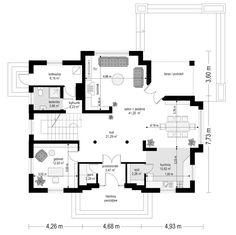 Projekt domu Filip Modern House Design, House Plans, Floor Plans, Farmhouse, How To Plan, Country Houses, Modern Houses, Trendy Tree, Modern Home Design