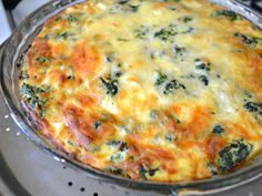 Spinach and Feta Quiche- I've made this before and it is delicious! Quiche Recipes, Brunch Recipes, Breakfast Recipes, Breakfast Ideas, 21 Day Fix Breakfast, Mushroom Quiche, Get Thin, Spinach And Feta, Baby Spinach