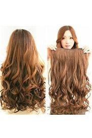 Extension de Cheveux Humains à Clip Virgin Bouclé 1 PC (Livraison gratuite): Tidebuy.com