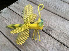 Bumble bee railroad spike yard art metal art