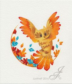 Illustration for most likely an autumn animal collection. Here is an owl taking off in a little tornado in the middle of autumn leaves. Autumn Animals, Inktober, Autumn Leaves, Rooster, Owl, Waves, Deviantart, Middle, Illustrations
