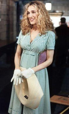 Vestito a righe di Romeo Gigli Carrie Bradshaw