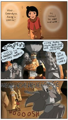 by sherbies on tumblr. I seriously can't picture spirit aang any other way haha