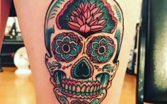 Sugar Skull Tattoo Designs Photos