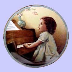 """Bessie Pease Gutmann, Illustrator, """"Harmony"""", circa 1989, from the """"Childhood Reflections"""" plate collection , The Hamilton Collection, Balliol Corporationl"""