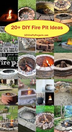 Cool DIY & Backyard Fire Pit Ideas with Comfy Seating Area Design Diy Fire Pit, Fire Pit Backyard, Backyard Patio, Backyard Landscaping, Fire Pits, Backyard Projects, Outdoor Projects, Garden Projects, Crafty Projects
