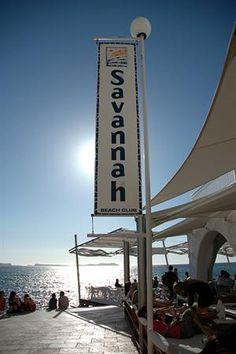 Savannah Beach Club, San Antonio Sunset Strip, Ibiza, Spain